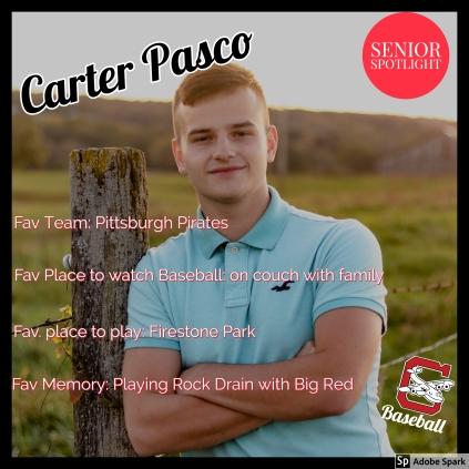 Carter Pasco Senior Spotlight